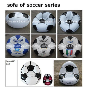 Custom Plastic Inflatable Soccer Bean Bag Sofa Chair