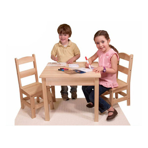 Best Price Children Kindergarten Furniture Set Wooden Kids Study Table And Chair Set