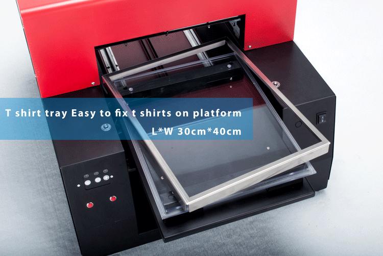 2018 Neue Angekommene Dgt Digital Inkjet A3 3D Kleidung Billig T-Shirt Textildrucker