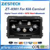 for kia carnival car dvd player touch screen radio fm 3G video gps navigation