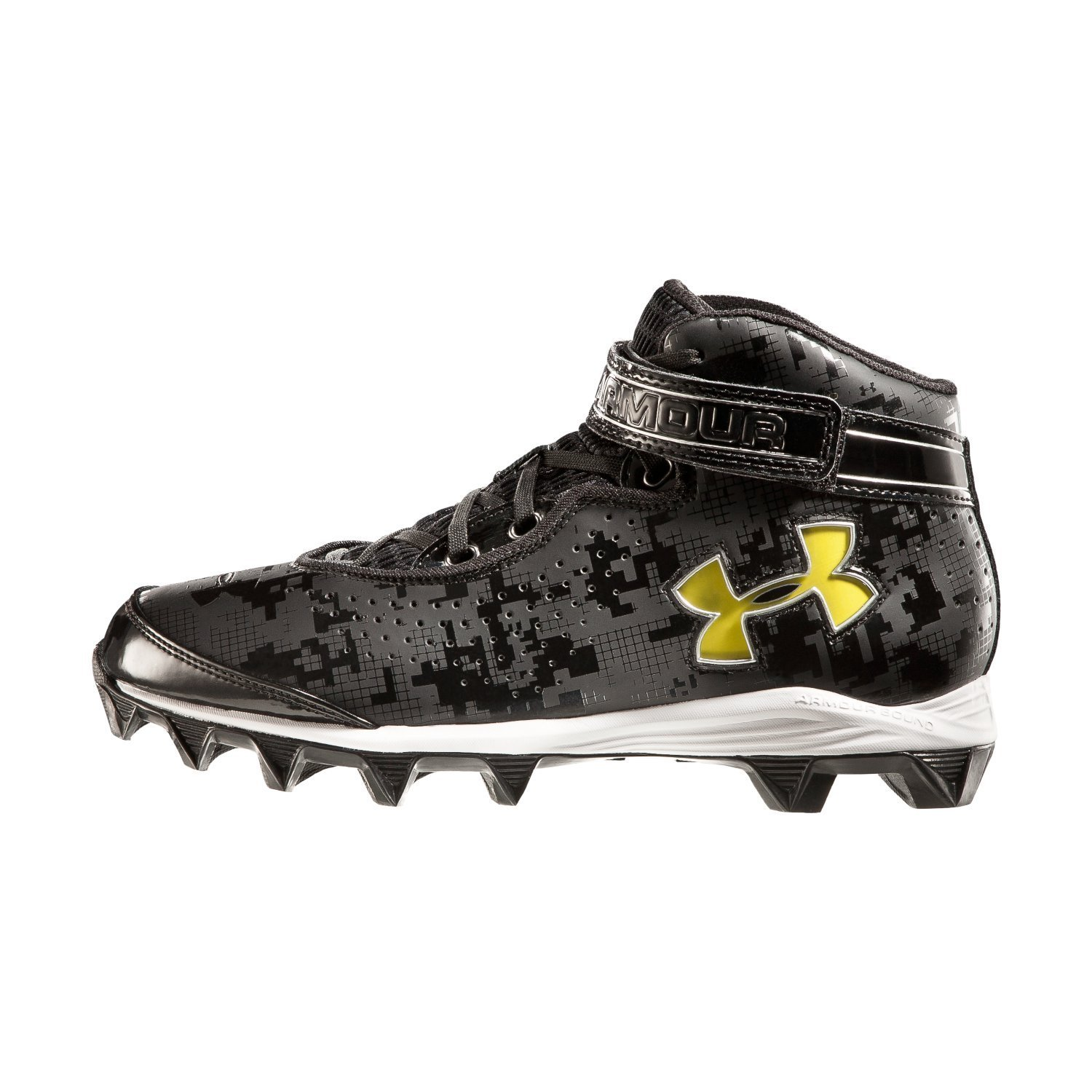 premium selection 23c9f d30d3 Get Quotations · Under Armour Men s Crusher Molded Football Cleats Black