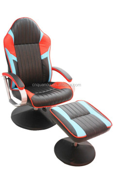 Workwell Racing Recliner With Ottoman Office Chair Car Gaming