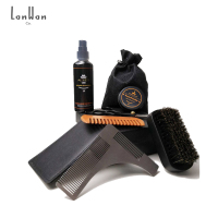 Hot Sales No Logo Mens Beard Care Set Beard Grooming Travel Kit with Beard Spray