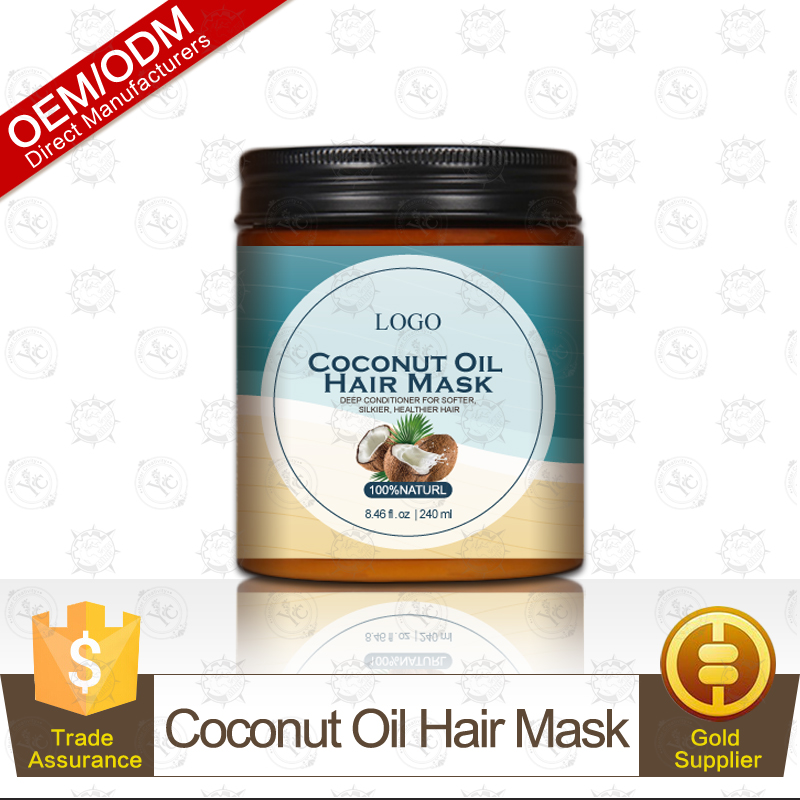 100% Natural and Organic Moisturizing Coconut Oil Hair Mask Hair Repair and Strengthen OEM Manufacturer Supply