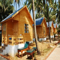 prefabricated wooden kit house price for resort