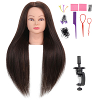 Professional Hairdressing Styling no makeup Training Head #4 Real human Hair Salon Mannequin Head