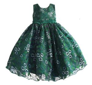 spring green lace skirts bridal flower girls fashioned dresses