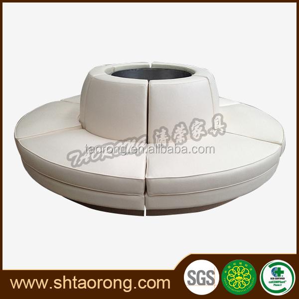 modern white big round bench sofa for restaurant view. Black Bedroom Furniture Sets. Home Design Ideas