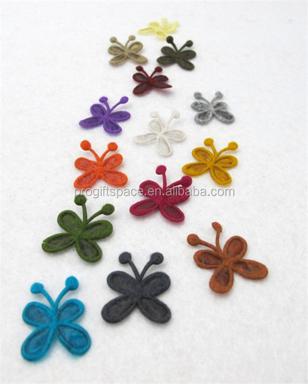 2017 hot sell Felt Butterfly Shape Die Cut Party supply made in China
