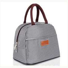 Haute Qualité Rayure Sac <span class=keywords><strong>à</strong></span> <span class=keywords><strong>Lunch</strong></span> Fourre-Tout Sac Organisateur Déjeuner Titulaire <span class=keywords><strong>Isolé</strong></span> Sac Isotherme pour Femmes