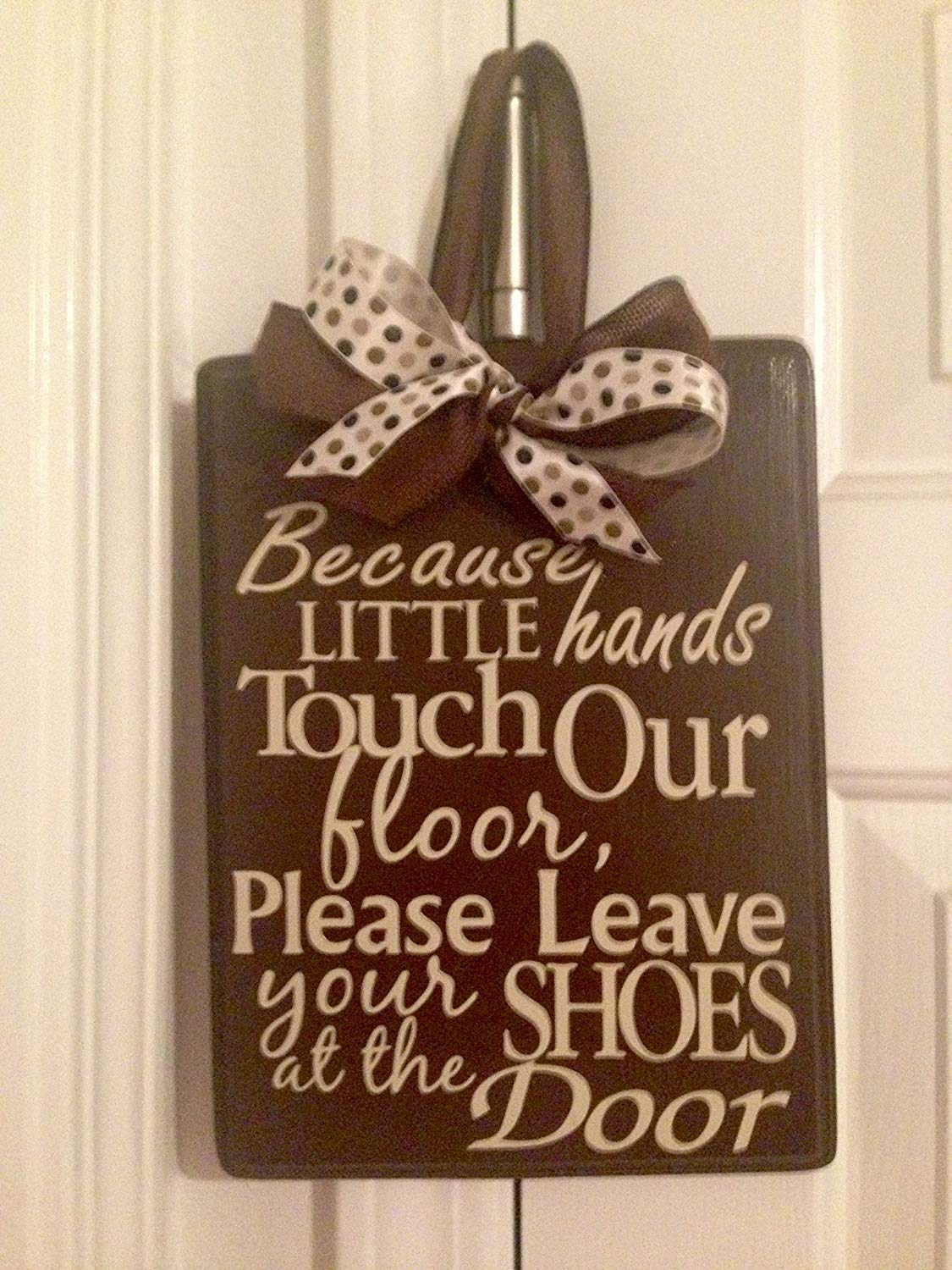 Get Quotations Door Hanger Little Fingers Touch Our Floor Leave Shoes At Home Decor