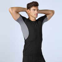 OEM FACTORY High Quality Men Printing Body Tight Sports Training Fitness Compression Gym T Shirt for men compression shirt