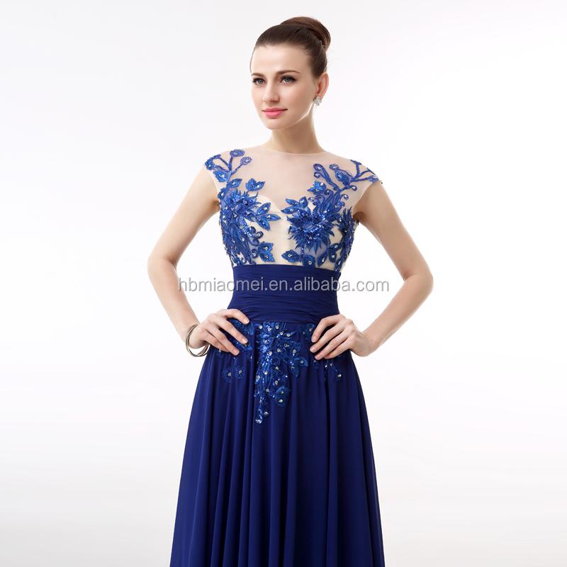 Royal soirée en mousseline de soie robe aliexpress Amazon vente chaude hign  cou robe longue robe 0aa3e6112df
