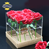 JINBAO 30x30x15cm 4mm acrylic rose flowers display boxes with lid