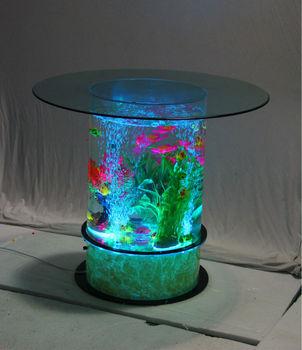 Led lighting acrylic aquarium bar cafe restaurant decoration buy coffee table aquarium led - Aquarium table basse de salon ...