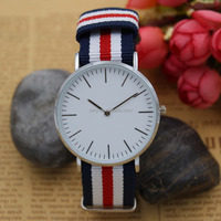 R0792 good price mixed color DW nylon strap watch
