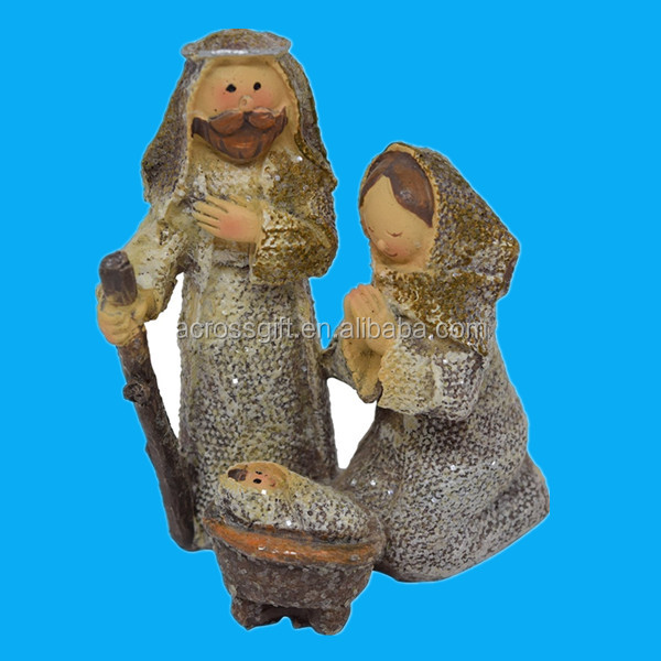 1 Piece Holy Family Small China Childs Nativity Scene with Mary Set, Joseph and Baby Jesus