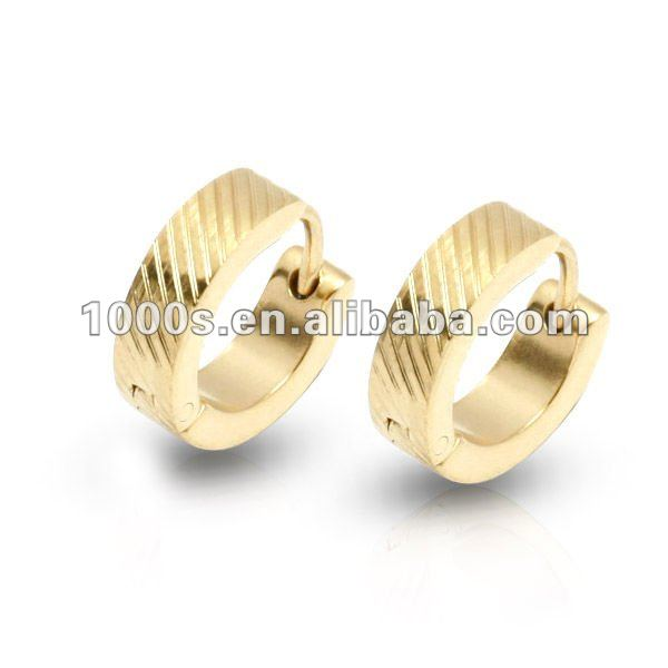 ba34ab85d Gold Plated Hoop Earring Designs For Boys - Buy Gold Plated Hoop ...