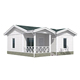 Family concrete prefab house compound wall designs kitset homes/ kit set homes concrete wall panels