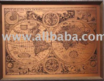 A New And Accvrat Map Of The World 1626.A New And Accvrat Map Of The World Cartographic Material Buy