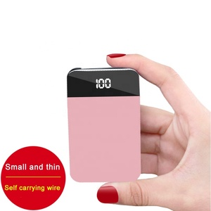 2019 Trending Products Rohs Small Size Mini Slim Portable Power Bank For 8000mah