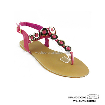 0baa3c4a3 factory best price flats women summer sandal plastic circle design thong  sandal