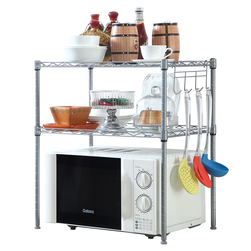 XM_226A extendable steel shelf microwave oven grill rack stand kitchen accessories storage rack