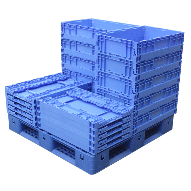 PP material stackable Foldable collapsible plastic fruit crates