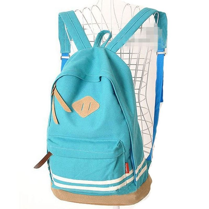 Ecoparty Pig Nose School Bag for Teenagers Stripes Campus Shoulder Rucksack Sac A Dos Ecole #5916 Unisex Travel Canvas Backpack