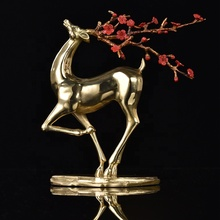 Indoor decorative small deer figurines sculpture for desktop