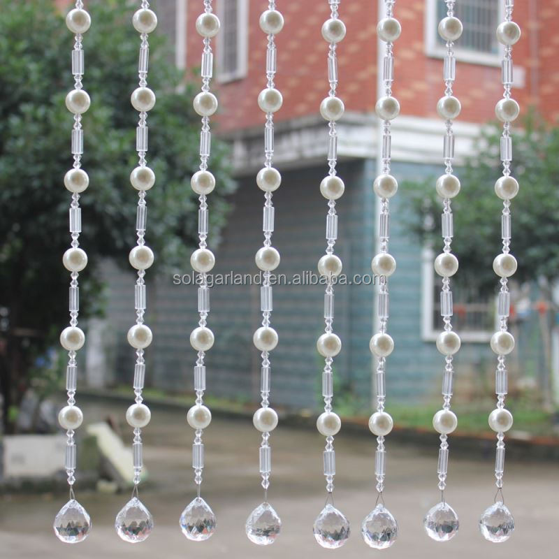 Nice Handmade Acrylic Crystal Bead Curtain with Pearl Beads