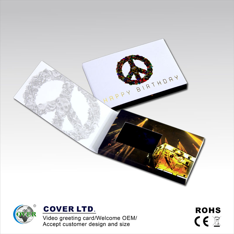 2018 high quality lcd video player brochure/book/card