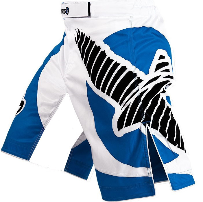 Free shipping High quality Men's MMA Blue and White professional Fight shorts - Muay Thai/Boxing/Jujitsu shorts XS-L