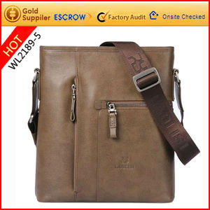 Factory promote personalized spanish leather bags men made in Guangzhou