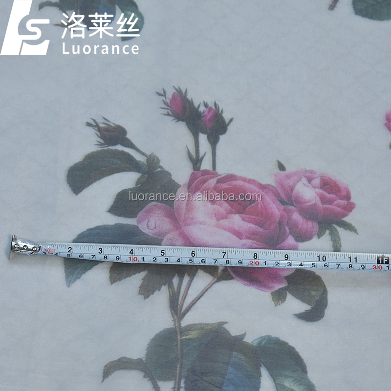hot sale flower printed organza fabric