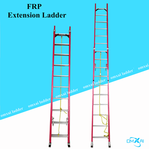 Two layers of extendable insulation FRP Material safety step fiberglass reinforced ladders