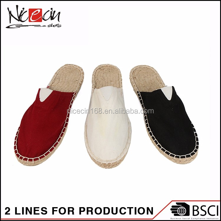 Outdoor Famous unbranded Espadrilles Woman Hemp Shoes slippers
