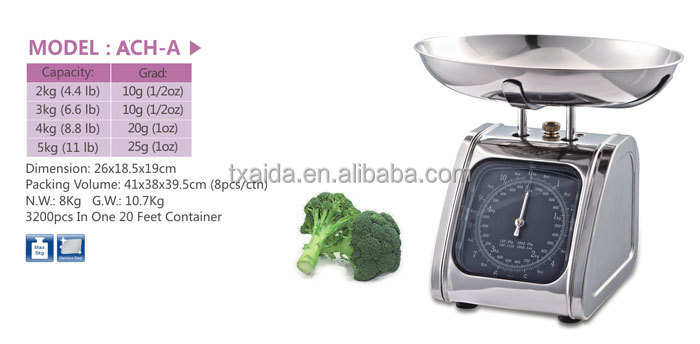 ACH-A  stainless steel Mechanical manual kitchen scale