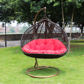 patio swings chair garden swing rattan wholesale double swing chair - Patio Swing Chair
