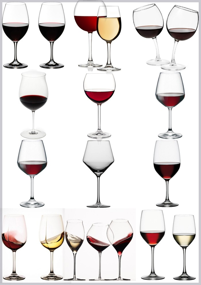 Hot sale red colored wine glasses wholesale