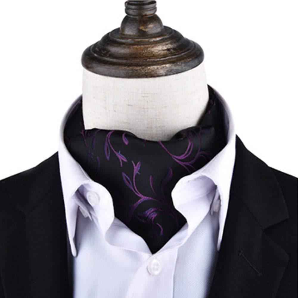 BUYEONLINE Men/&Rsquo;S Silk Blend Polka Dot Cravat Ascot Ties