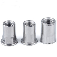 Good price M4 M6 M8 stainless steel SS304 SS316 hex flat head rivet nut
