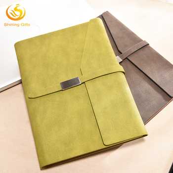 business pu leather tri folder notebook organizer agenda planner
