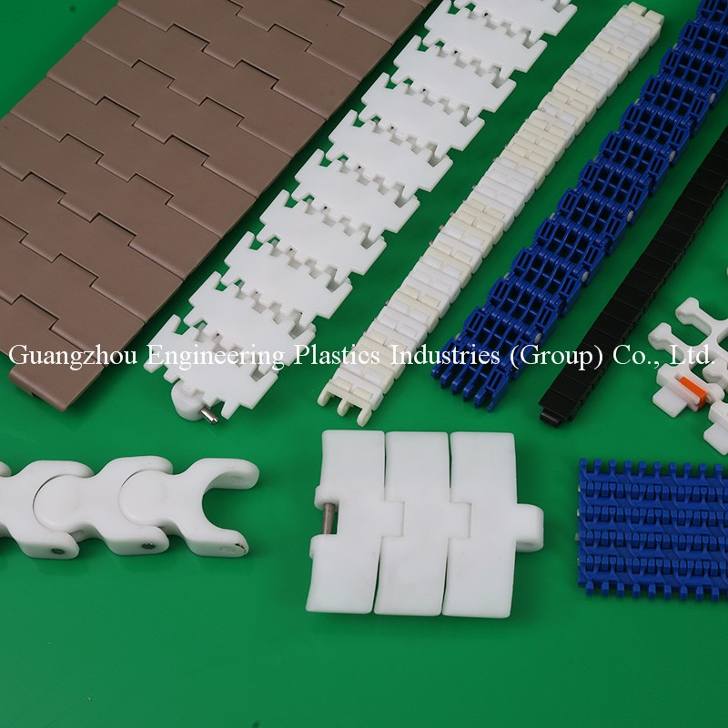 Customized plastic onveyor chain flat top chains/table top chains/radius conveyor chain