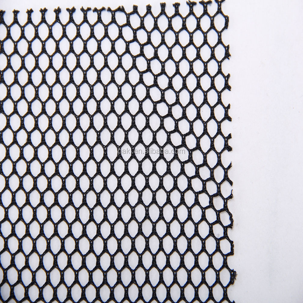 supply all kinds of cheap linen fabric hexagonal mesh fabric school bag polyester fabric for hammock