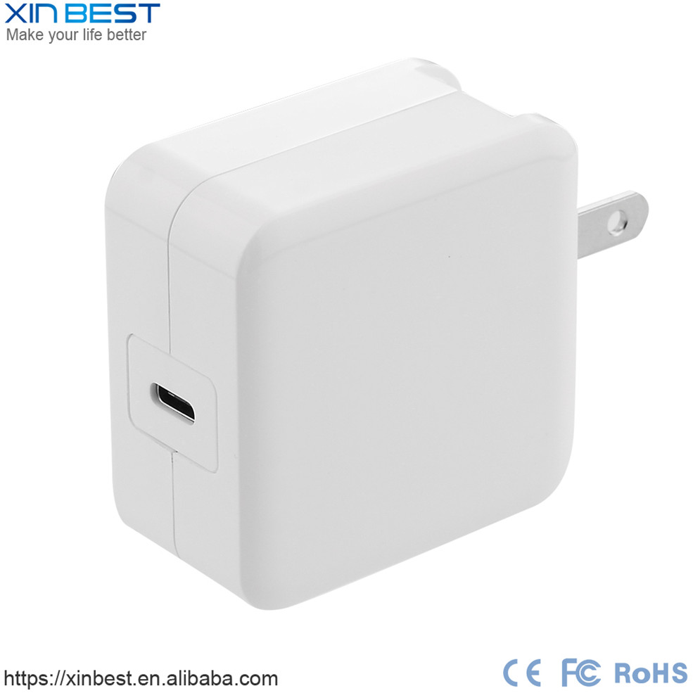 USB C Charger 29W USB Type-C Wall Charger With Power Delivery Foldable Plug For Apple New Macbook,Nexus Pixel/5X And More