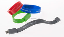 Bracelet/Wristband usb flash drive memory pendrive logo 4GB 8GB for cooperation