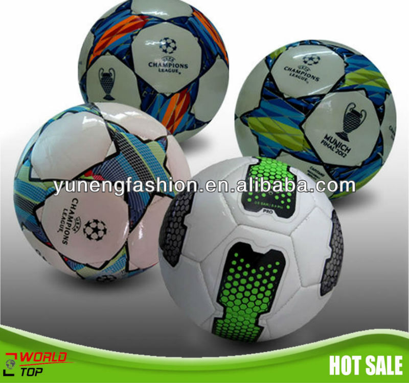 Official size PVC leather machine stitched soccer ball
