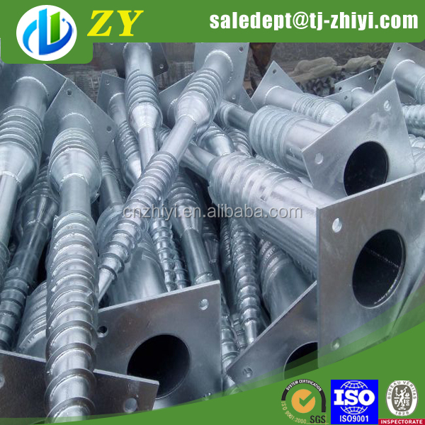 Galv.Ground Screw Pile For Solar Energy galvanized no dig ground screw pole anchor for fence at factory price