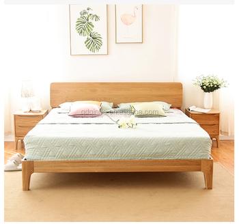 Einfache Moderne Massivholz Eiche Bett Holzbett Teile Namen Buy